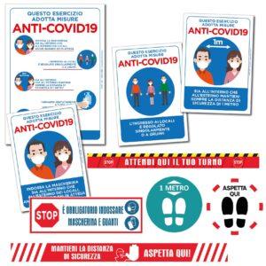 ANTI-COVID19 Segnaletica per Attività Commerciali